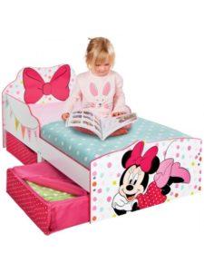 Minnie Mouse Seng m/opbevaring (140cm)